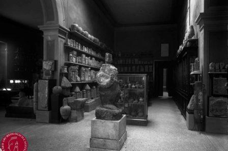 La statua di Bes esposta al Regio Museo